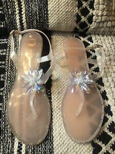 River Island Diamante in Sandals