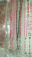 Joblot 24 pcs Mixed colour Rosary Bead Necklaces  - New wholesale lot 1