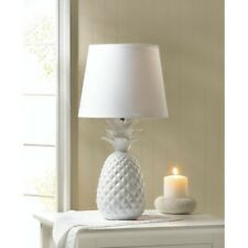 White Pineapple Lamp White Ceramic Base Table Lamp