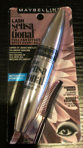 Maybelline New York Lash Waterproof Mascara, Very Black #257 03 oz New Sealed