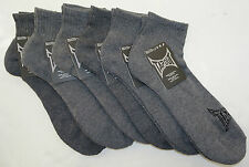 TapouT Men's Quarter Cut Athletic Socks    Swift-Dry    Grey    6-pack