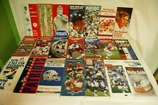 RARE LOT BY NFL NEW ENGLAND PATRIOTS 21 MEDIA GUIDE PROGRAM PRESS BOOK FOOTBALL