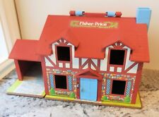 Fisher Price - Brown Tudor Dollhouse #952 w/ Working Doorbell [HOUSE ONLY]  VGUC