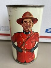 """Old Drewrys Extra Dry """"Mountie"""" Flat Top Beer Can South Bend, Indiana"""