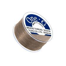 Toho One-G 0.2mm Nylon Japanese Beading Thread Sand Ash 50 Yards (Q109/7)
