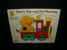 Vintage 1990 Wooden Spot the Dog Tip and Fit Play Tray by Michael Stanfield