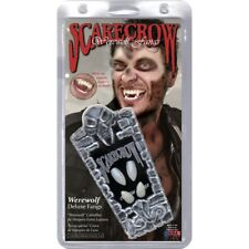 Scarecrow Werewolf Fangs Set 4 Teeth Deluxe Fancy Dress
