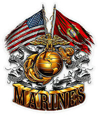 Decal United States Marine Corps - USMC Army Veteran sticker car window bumper 2