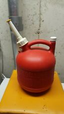 Eagle 1 1/4 gallon red plastic gas can