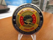US Air Force 433rd Aircraft Generation Squadron OEF Alamo Wing Challenge Coin