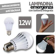LAMPADINA LED EMERGENZA RICARICABILE 12W E27 ANTI BLACKOUT LUCE INTELLIGENTE