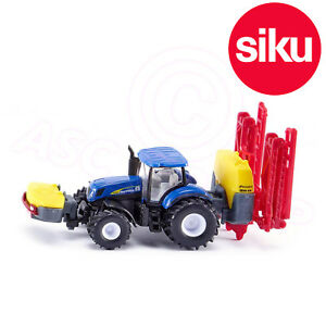 SIKU No 1799 1:87 NEW HOLLAND TRACTOR with Kverneland CROP SPRAYER + Front Tank