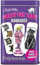 Crazy Cat Lady Bandages Cat Lovers Adult & Kid Bandages Fun Band-Aids