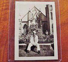 "1940's Wailuku Maui Sailor St Anthony Church TH Hawaii 2 1/2"" x 3 1/2"""