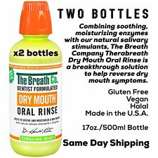 2x Bottles THERABREATH DRY MOUTH ORAL RINSE Tingling Mint SAME DAY SHIPPING!