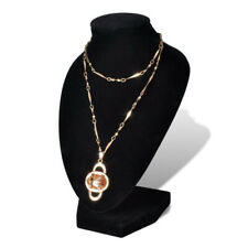 Velvet Necklace Bust Display Stands Pendants Chain Jewelry Rack Velvet Black
