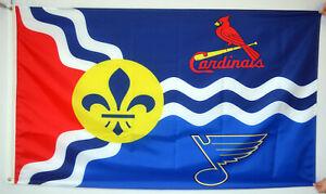 St. Louis Cardinals St. Louis Blue Large Missouri State Flag 3X5ft US shipper