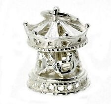 STERLING SILVER MOVING CAROUSEL CHARM
