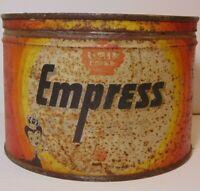 Rare Old Vintage 1950s EMPRESS GRAPHIC COFFEE TIN ONE 1 POUND SEATTLE WASHINGTON