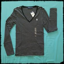 Polo Ralph Lauren Striped Long Sleeve T-shirts NWT Black size S