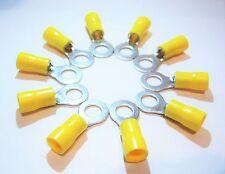 10 x Ring Kabelschuh M8 gelb Steckhülse Ring Öse 12-10  2,5-6,0mm Aderendhülsen