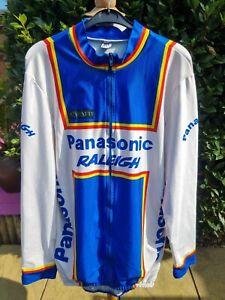 Vintage Caratti Panasonic Raleigh Long Sleeve Cycling Jersey Size 4