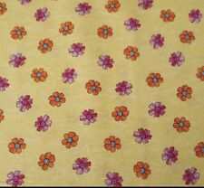 Summer Garden Kate Knight BTY Quilting Treasures Floral Pink Orange on Yellow