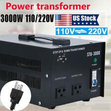 3000W Watt Step Up Down Electric Power Voltage Converter Transformer Heavy Duty