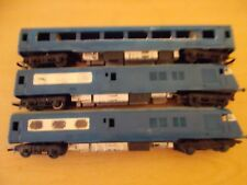 Triang Blue Pullman Set? OO Gauge (Looks weathered) - 3 Pieces