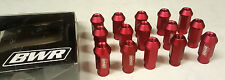 SALE BLACKWORKS 15-PIECE 12X1.5 FORGED OPEN EXTENDED LUG NUTS HONDA ACURA (Red)