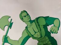 FLASH GORDON ANIMATION CEL PRODUCTION ART Hand Painted