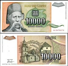 YUGOSLAVIA 10,000 10000 DINARA 1993 P 129 UNC