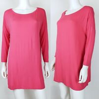 Skies Are Blue Size Medium Tunic Top Oversized Pink Knit Blouse Stitch Fix