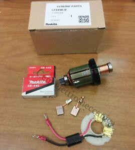 Indotto + spazzole + basetta per avvitatore MAKITA motore 619496-0 per DHP458