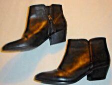 Franco Sarto Black ANKLE Boots Shoes Heels, Zipper Womens Sz 6