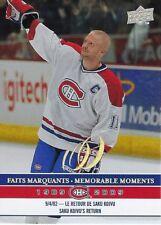 2008-09 Montreal Canadiens Centennial Memorable Moments Saku Koivu #300