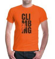 Herren Unisex Kurzarm T-Shirt Climbing Type Bergsteigen Klettersport Klettern