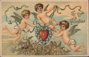 Cupid To My Valentine Antique Postcard Vintage Post Card