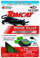 Tomcat Mouse Killer 12 Rats Mice Rat Bait Station Rodent Poison Trap/Blocks Bait