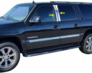 1999-2001 Cadillac Escalade 4PC Pillar Post Stainless Chrome Steel Trim Door