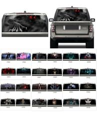 3D Transparent Car Back Rear Window Decal Vinyl Sticker fit any car Horror Skull