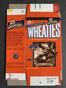 Mini Wheaties box Jackie Robinson 75 years of champions empty (2) Box Lot