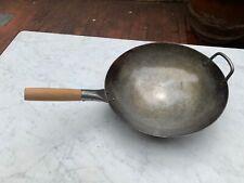 Craft Wok Wok Tradizionale in Acciaio al Carbonio Battuto a Mano