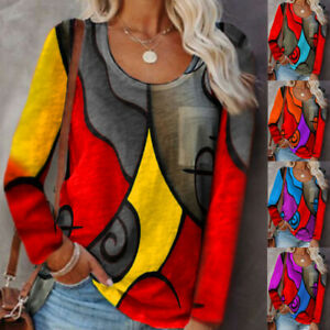 Ladies Women Plus Size Long Sleeve T Shirt Tops Pullover Casual Loose Blouse Tee