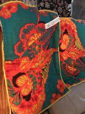 Floral Anthropologie Pillow Sham Set Of 2 Standard Size 100% Cotton