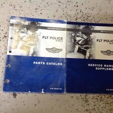 2003 Harley Davidson FLT Police Models Service Manual Supplement & Parts Catalog