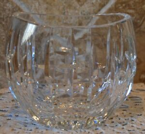 """WATERFORD CRYSTAL VASE~BUBBLES~4 1/2"""" TALL~TINY FLEA BITE (SEE PHOTOS)~5"""" LONG"""