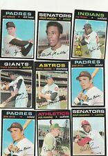 1971 Topps Baseball  ~  Base Singles  ~  You Pick / Choose Upgrade your set