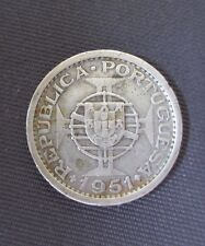 Saint Thomas & Prince - 5 Escudos 1951, Silver, KM#13 (1)