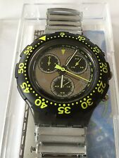 Original Aqua Chrono Swatch Waterpower (sbm100) - Swiss Made-Flexband-Scuba 200